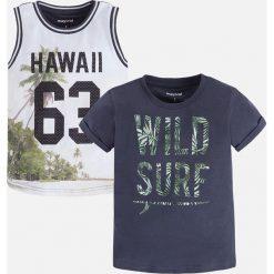 Mayoral - T-shirt dziecięcy 92-134 cm (2-pack). Szare t-shirty męskie z nadrukiem Mayoral, z bawełny. Za 89,90 zł.