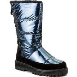 Kozaki JENNY FAIRY - WYL1127A-2 Granatowy. Niebieskie buty zimowe damskie Jenny Fairy, z materiału. Za 189,99 zł.