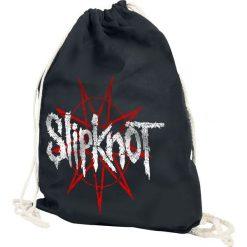 Slipknot Star Logo Torba treningowa czarny. Czarne torebki klasyczne damskie marki Slipknot, m, z nadrukiem, z kapturem. Za 54,90 zł.