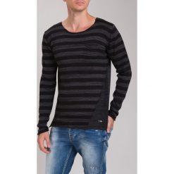 Ciemnoszary Sweter M3022. Czarne swetry klasyczne męskie Fasardi, m. Za 81,75 zł.