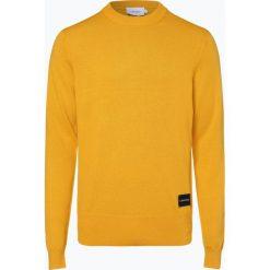 Calvin Klein - Sweter męski, żółty. Żółte swetry klasyczne męskie marki Calvin Klein, l, z dzianiny. Za 449,95 zł.