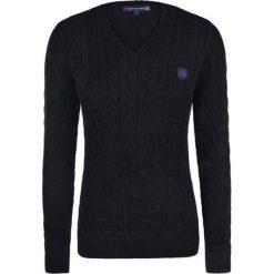 Swetry oversize damskie: Sweter w kolorze czarnym