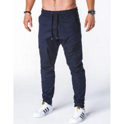 Spodnie męskie: SPODNIE MĘSKIE JOGGERY P707 – GRANATOWE