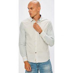 Pepe Jeans - Koszula. Szare koszule męskie jeansowe Pepe Jeans, l, w paski, z klasycznym kołnierzykiem, z długim rękawem. W wyprzedaży za 229,90 zł.