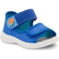Sandały męskie skórzane: Sandały SUPERFIT – 2-00294-85 Bluet Kombi