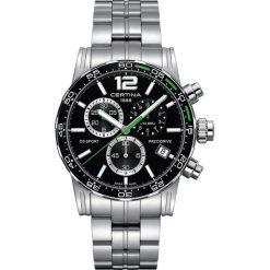 PROMOCJA ZEGAREK CERTINA DS SPORT C027.417.11.057.01. Czarne zegarki męskie CERTINA, ze stali. W wyprzedaży za 2072,40 zł.