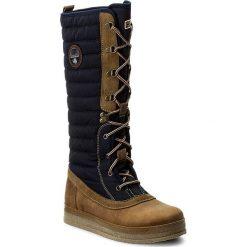 Kozaki NAPAPIJRI - Gaby 15782215 Blue Marine N65. Szare buty zimowe damskie marki Napapijri, z dzianiny. W wyprzedaży za 459,00 zł.