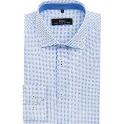 Koszula SIMONE KDBS000062. Niebieskie koszule męskie na spinki marki bonprix, m, z nadrukiem, z klasycznym kołnierzykiem, z długim rękawem. Za 229,00 zł.
