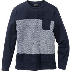 Swetry męskie: Sweter z kieszonką Regular Fit bonprix ciemnoniebieski