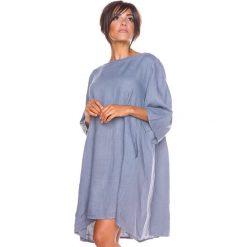 """Sukienki hiszpanki: Lniana sukienka """"Suzon"""" w kolorze szarym"""