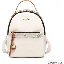 Ciekawy plecak w kwiaty. Szare plecaki damskie Pakamera, w kwiaty, z materiału, eleganckie. Za 199,00 zł.