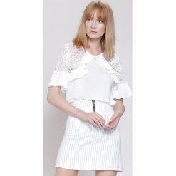 Bluzki damskie: Biała Bluzka  Arm Lace