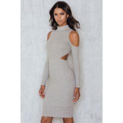 Sukienki hiszpanki: Passion Fusion Ekskluzywna Sukienka Obcisła – Grey