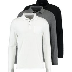 Koszulki polo: Burton Menswear London 3 PACK Koszulka polo black/white/grey