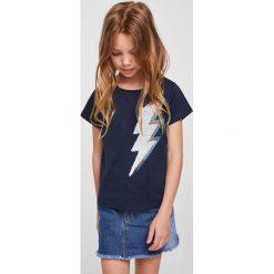 Mango Kids - Top dziecięcy Storm 110-164 cm. Szare bluzki dziewczęce marki bonprix, m, melanż, z dzianiny, z kontrastowym kołnierzykiem. Za 49,90 zł.