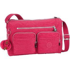 """Torebka """"Gaelle"""" w kolorze różowym - 32 x 21 x 11 cm. Czerwone torebki klasyczne damskie Kipling, w paski, z materiału. W wyprzedaży za 185,95 zł."""