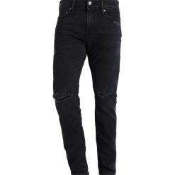 Abercrombie & Fitch Jeansy Slim Fit black. Niebieskie jeansy męskie relaxed fit marki Abercrombie & Fitch. Za 409,00 zł.