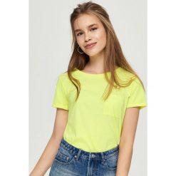 Bluzki, topy, tuniki: T-shirt basic – Żółty