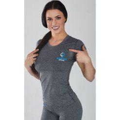 """Bluzki asymetryczne: Ground Game Sportswear Koszulka damska  Light """"Melange Grey"""" krótki rękaw Szara r. XS"""