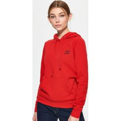 Bluza z kapturem - Czerwony. Czerwone bluzy męskie rozpinane marki Cropp, l, z kapturem. Za 79,99 zł.