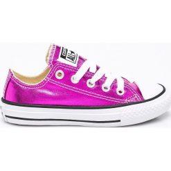 Converse - Tenisówki dziecięce. Szare buty sportowe dziewczęce marki Converse, z materiału, na sznurówki. W wyprzedaży za 139,90 zł.