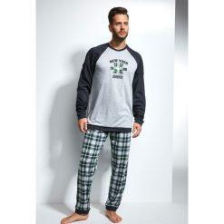 Piżama męska CORNETTE New York. Szare piżamy męskie Astratex, m, z nadrukiem, z dzianiny. Za 114,45 zł.