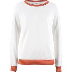 Bluza dresowa bonprix biel wełny. Białe bluzy damskie bonprix, z dresówki. Za 74,99 zł.