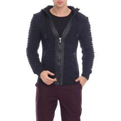 Swetry męskie: Kardigan w kolorze granatowym