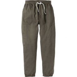 Spodnie dresowe bonprix ciemnooliwkowy. Spodnie dresowe męskie bonprix, z dresówki. Za 69,99 zł.