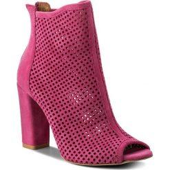 Botki R.POLAŃSKI - 0920 Magnolia Zamsz. Czerwone buty zimowe damskie marki R.Polański, ze skóry, na obcasie. W wyprzedaży za 249,00 zł.