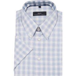 Koszula SERGIO slim 12-06-20. Brązowe koszule męskie na spinki marki QUECHUA, m, z elastanu, z krótkim rękawem. Za 149,00 zł.