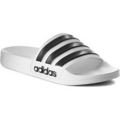 Klapki adidas - adilette Shower AQ1702 Ftwwht/Cblack/Ftwwht. Białe klapki męskie Adidas, z tworzywa sztucznego. Za 99,95 zł.