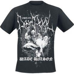 Deadpool Wilson Metal T-Shirt czarny. Czarne t-shirty męskie z nadrukiem Deadpool, xl, z okrągłym kołnierzem. Za 62,90 zł.