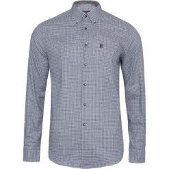 Koszule męskie na spinki: Koszula CONTE OF FLORENCE ENODOC QF17 Szary|Granatowy