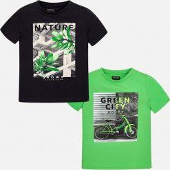 Mayoral - T-shirt dziecięcy 128-172 (2-pack). Szare t-shirty chłopięce z nadrukiem marki bonprix, m, z dzianiny, z kontrastowym kołnierzykiem. Za 99,90 zł.