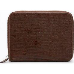 Portfele damskie: Skórzany portfel w kolorze brązowym – 18 x 14 x 2,5 cm