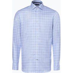 OLYMP SIGNATURE - Koszula męska łatwa w prasowaniu – Savio, niebieski. Niebieskie koszule męskie non-iron marki OLYMP SIGNATURE, m. Za 449,95 zł.