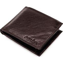PORTFEL MĘSKI SKÓRZANY A090 - BRĄZOWY. Brązowe portfele męskie marki Ombre Clothing. Za 49,00 zł.