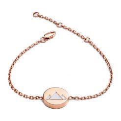 Bransoletki damskie: Bransoletka w kolorze różowego złota