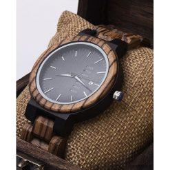 Zegarki męskie: Zegarek z drewna Zebrano