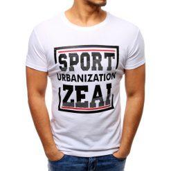 T-shirty męskie z nadrukiem: T-shirt męski z nadrukiem biały (rx2728)