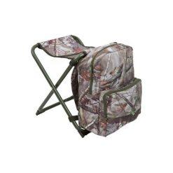 Plecak - stołek myśliwski camo. Brązowe plecaki męskie SOLOGNAC, z materiału. Za 99,99 zł.