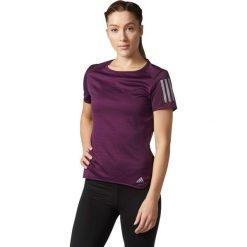 Adidas Koszulka RS SS TEE W fioletowa r. M (BQ7964). Szare topy sportowe damskie marki Adidas, l, z dresówki, na jogę i pilates. Za 129,90 zł.