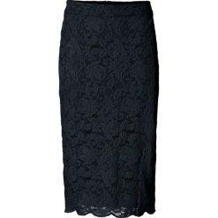 Spódniczka koronkowa bonprix czarny. Czarne spódniczki ołówkowe bonprix, w koronkowe wzory, z koronki, biznesowe. Za 79,99 zł.