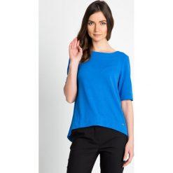 Bluzki damskie: Niebieska bluzka z kokardką QUIOSQUE