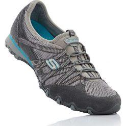 Buty wsuwane Skechers bonprix szaro-turkusowy. Szare buty sportowe damskie marki bonprix, z materiału. Za 129,99 zł.