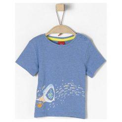 S.Oliver T-Shirt Chłopięcy 74 Niebieski. Niebieskie t-shirty chłopięce marki S.Oliver, z bawełny. Za 35,00 zł.