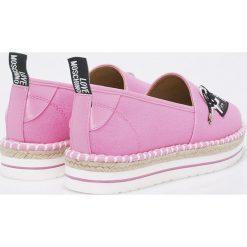 Love Moschino - Espadryle. Różowe espadryle damskie marki Love Moschino, z materiału, na obcasie. W wyprzedaży za 429,90 zł.