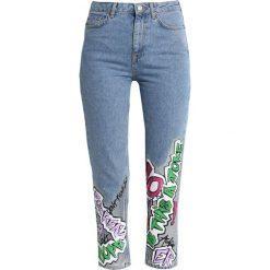 Topshop MOM Jeansy Zwężane bleach. Niebieskie jeansy damskie marki Topshop, z bawełny. Za 339,00 zł.