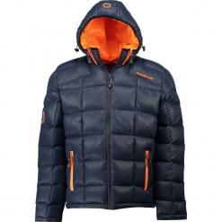 """Kurtka zimowa """"Dactylon"""" w kolorze granatowo-pomarańczowym. Brązowe kurtki męskie pikowane marki Canadian Peak, na zimę, l. W wyprzedaży za 341,95 zł."""
